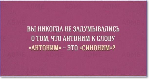 Антоним к слову антоним - это синоним