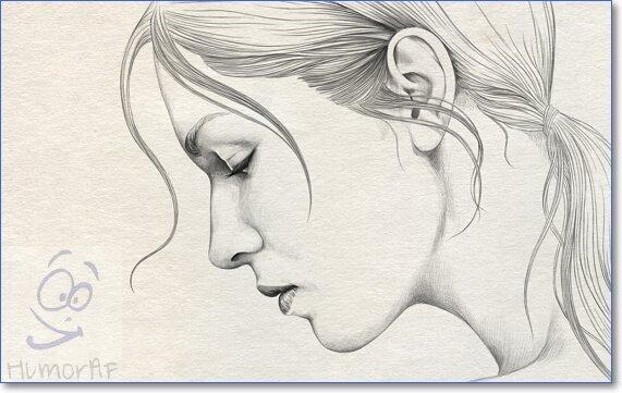 Легкие красивые картинки девочек карандашом