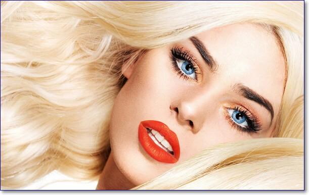 Девушки блондинки с голубыми глазами