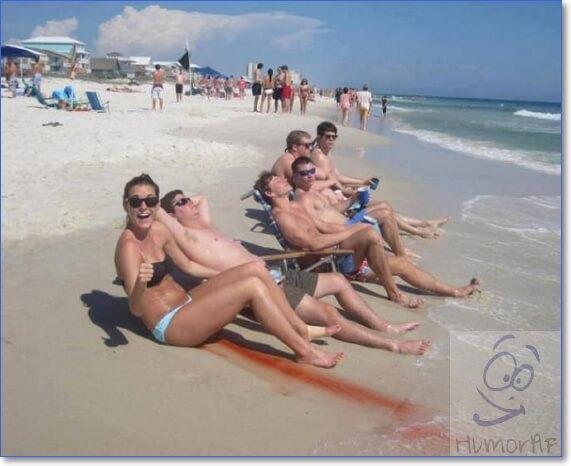 Прикольные фото девушек на пляже