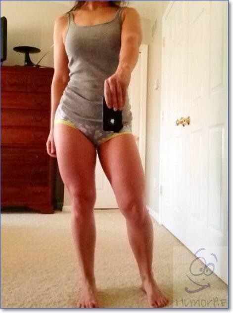 Накаченные ноги у девушки