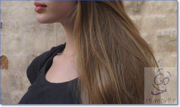 Девушки с русыми волосами без лица
