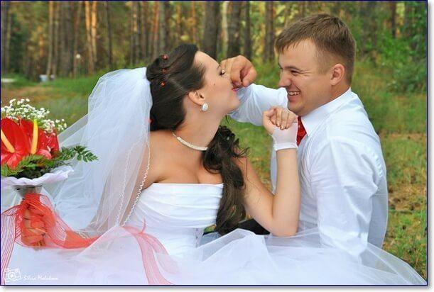 Прикольные свадебные фото
