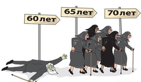 Приколы про пенсионный возраст