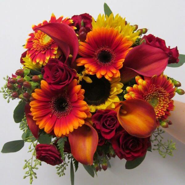 Букеты осени из цветов фото красивые, букета