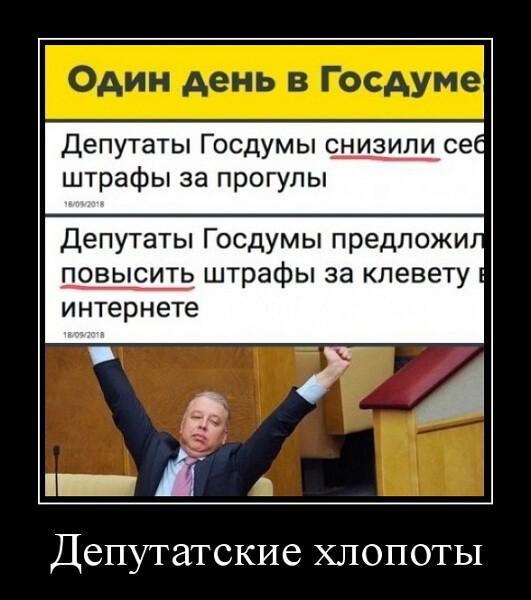 Демотиватор Депутатские хлопоты