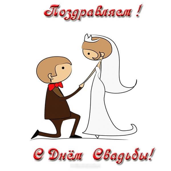 Веселое поздравление с днем свадьбы картинки