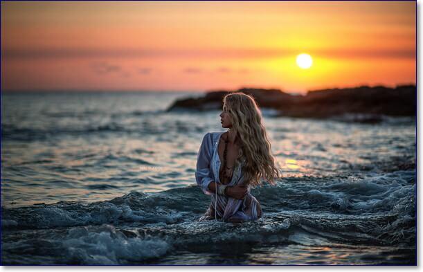 Красивые позы для фото на море
