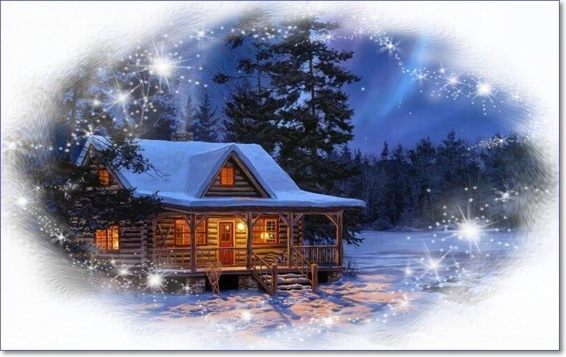 Зимнее утро картинки красивые с надписью