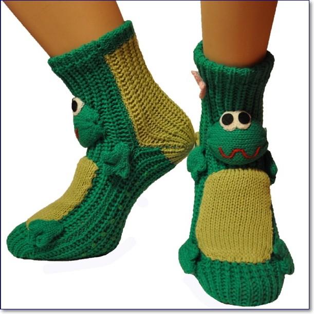 Прикольные вязаные носки фото