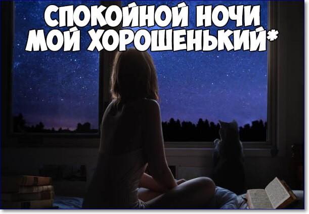 Спокойной ночи любимый прикольное фото
