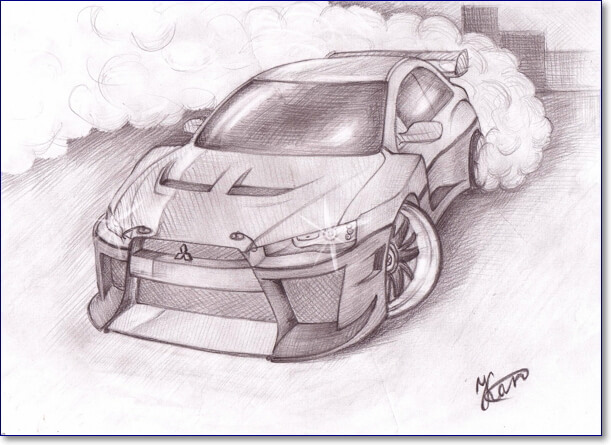 Красивые картинки карандашом машины