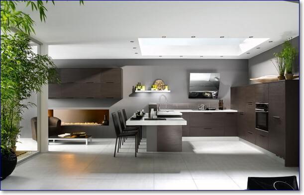 Красивые кухни хай тек фото