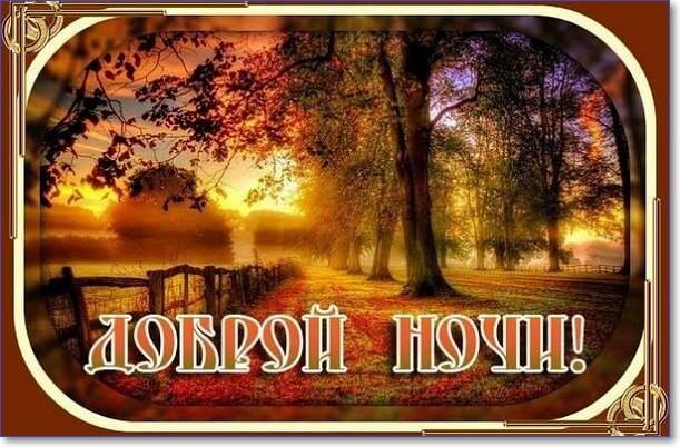 Доброй ночи сладких снов картинки с надписями осень