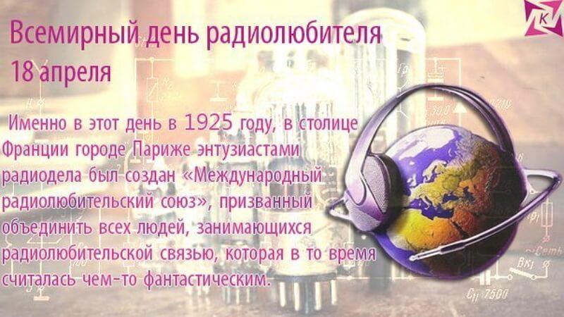 Всемирный день радиолюбителя открытки, мусора