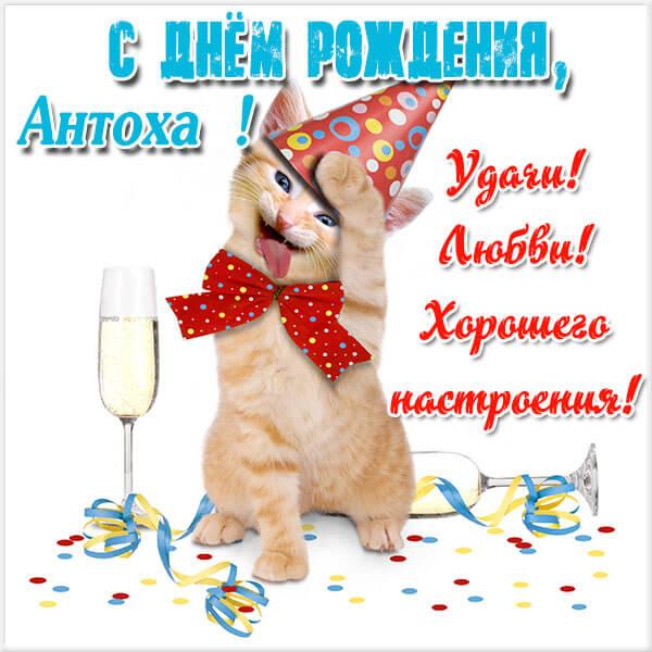 Красивые картинки с днём рождения Антон