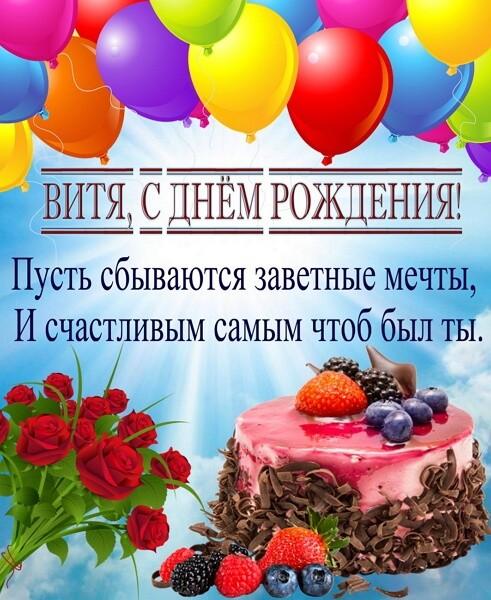 Красивые картинки с днём рождения Виктор