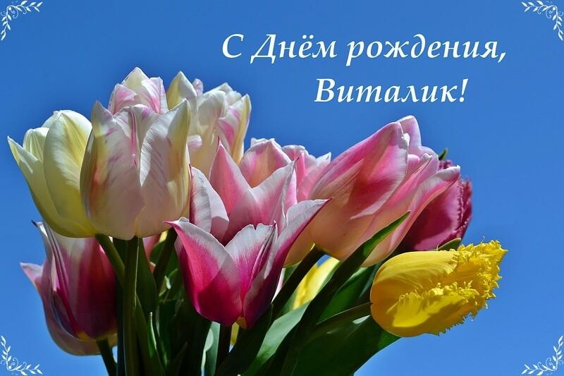Поздравление, поздравление с днем рождения виталию открытка