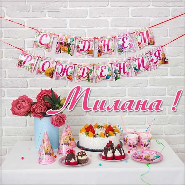 Красивые картинки с днем рождения Милана