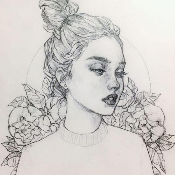 Классные рисунки девушек для срисовки
