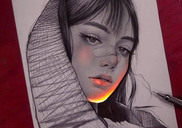 Необычные рисунки карандашом