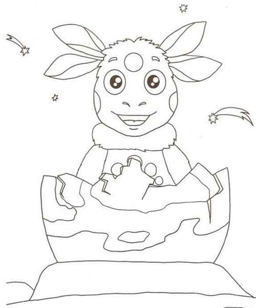 Рисунки для срисовки Лунтик
