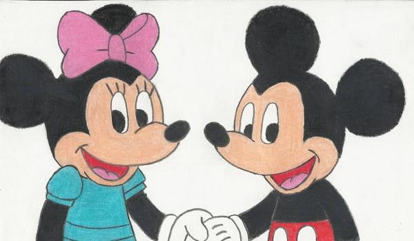 Рисунки для срисовки Микки Мауса и Мини