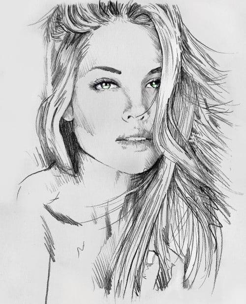 Рисунки карандашом девушек ванилек