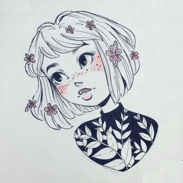 Рисунки карандашом куклы