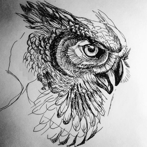 Рисунки серым карандашом