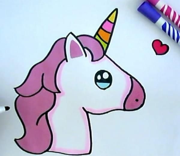 Рисунки для срисовки карандашом единороги кавайные