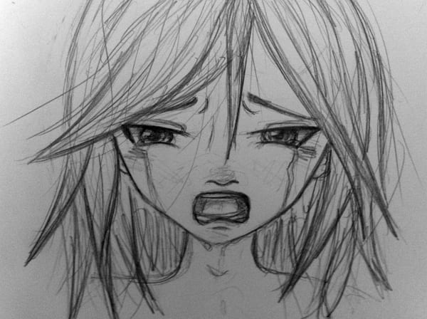 Рисунки карандашом для начинающих лицо аниме