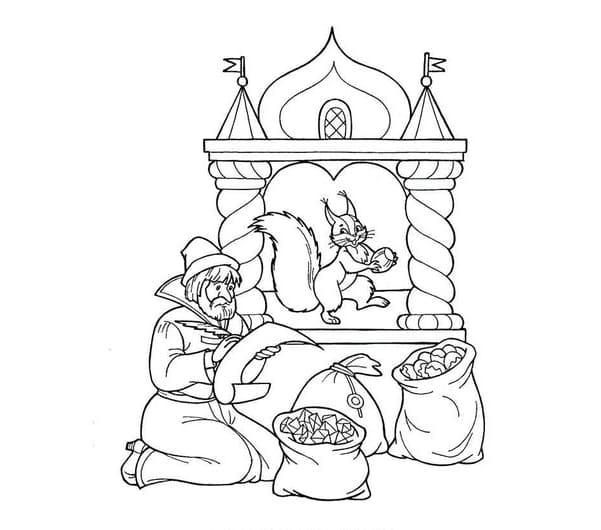 Рисунки карандашом Сказка о царе Салтане