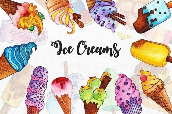 Кавайные картинки мороженого для срисовки