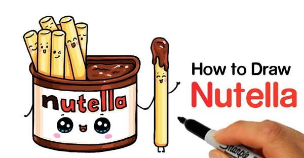Милые картинки Нутеллы для срисовки