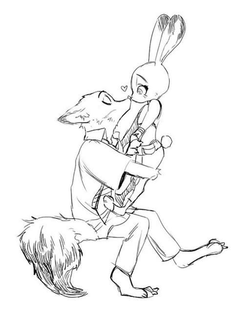 Рисунки для срисовки из мультика Зверополис