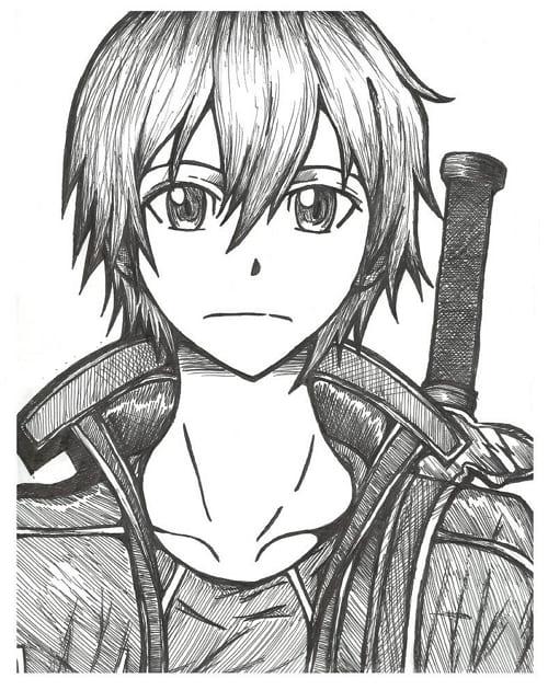 Рисунки для срисовки Мастера меча