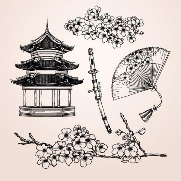Рисунки в японском стиле карандашом